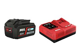 "SKIL 3111 AA Akumulator (""20V Max"" (18 V) 4,0 Ah z technologią ""Keep Cool"" Li-Ion) i ładowarka ""Rapid"""
