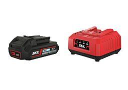 "SKIL Akumulator (Li-Ion ""20V Max"" (18 V) 2,0 Ah z technologią ""Keep Cool"") i ładowarka"