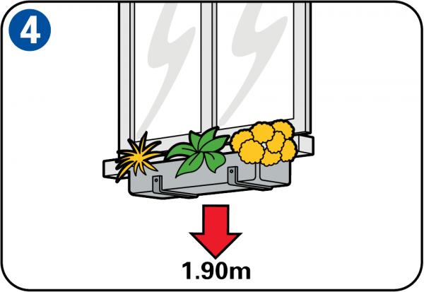 Wieszanie skrzynki na kwiaty - Fixer jardiniere rebord fenetre ...
